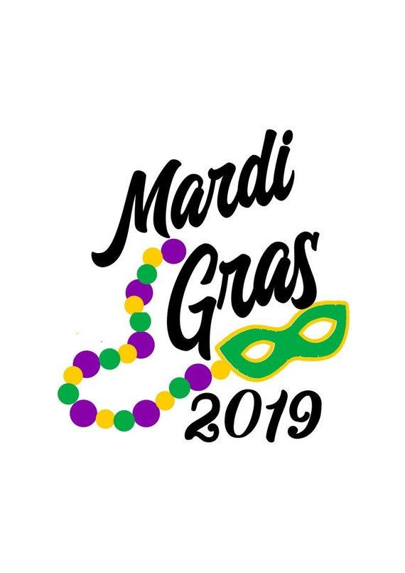Mardi Gras 2019 Svg Mardi Gras Beads Svg Svg File Dxf File Etsy