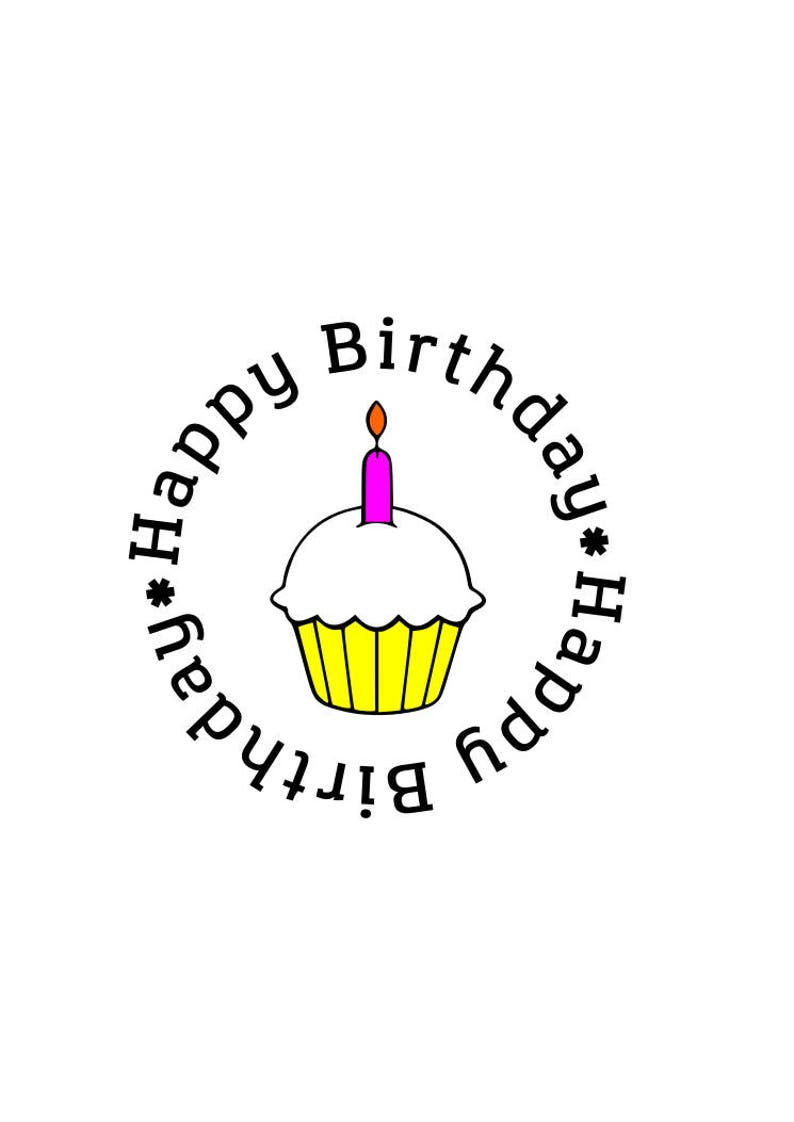 Happy Birthday Cupcake One Year Old Svg File Dxf