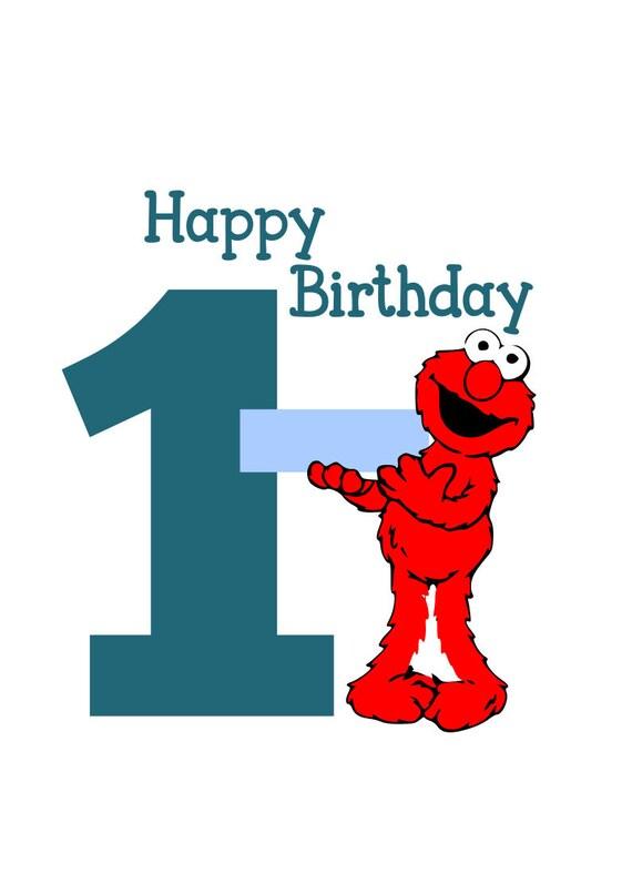 Elmo Svg Ein Jahr Geburtstag Svg Svg Datei Png Datei Etsy