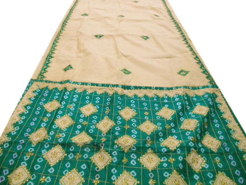 Clothing, Shoes & Accessories Special Section Sequins Work Women Wear Craft Sari Traditional Embroidered Vintage Indian Saree Women's Clothing