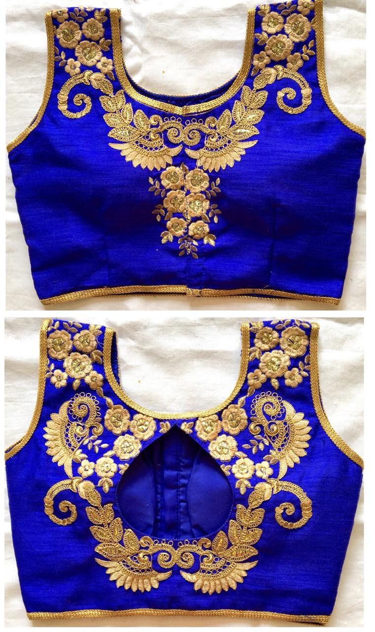 X-mas spécial bleu prêt fait soie Saree Choli cousu filles Top mariage Banglori soie fait Floral brodé Sari Blouse tunique indien femmes 272c53