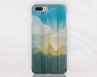Bois iPhone Case iPhone 8 cas iPhone 8 Case Plus iPhone 7 cas iPhone 7 Case Plus iPhone X étui Samsung S8 étui Samsung S7 cas RD1503