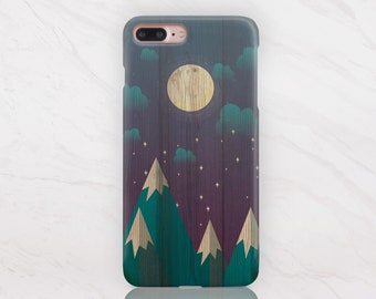 Bois iPhone Case iPhone 8 cas iPhone 7 Case Plus iPhone 8 Case Plus iPhone 6 cas Samsung S7 cas Samsung S6 cas en bois dur cas RD1614