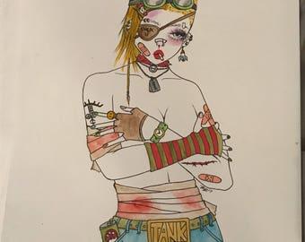 Tank Girl Forever Drawing
