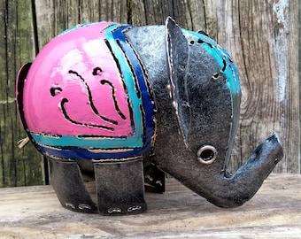 Pink Elephant Tea Light Candle Holder - Ideal for Home or Garden