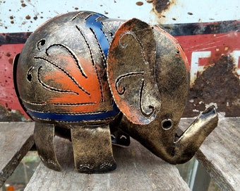 Bronze Elephant Tea Light Candle Holder / Incense Burner - Ideal for Home or Garden