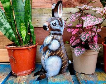 Rabbit Tea light Candle Holder / Incense Burner - Ideal for Home or Garden