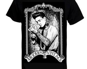 "Elvis Men's T-shirt - Exclusive ""Punked"" Design"
