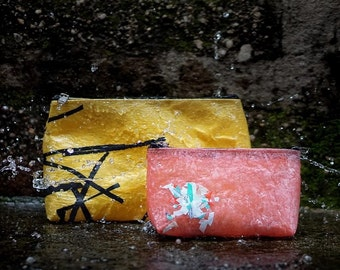 Aweko Recycled Plastic Toiletry/Makeup Bag Made From Recycled Plastic Bags
