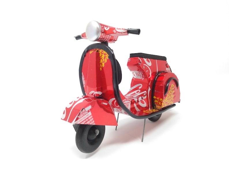 Coca Cola Vespa Roller Recycling Dose Modell Etsy