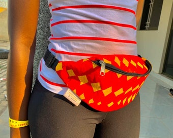 Feza Fanny Pack / Bum Bag Made From Recycled Plastic Bags