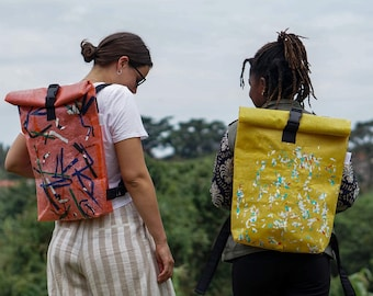 Mema Recycled Plastic Backpack Made From Recycled Plastic Bags