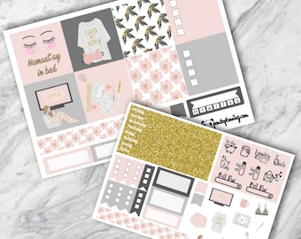 Staycation, MINI Happy Planner kit, sticker kit, personal planner, Weekly Planner, , Premium Matte, Glossy, marble, pink,