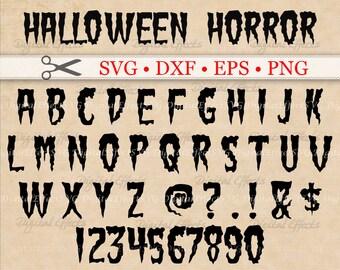 Halloween font svg | Etsy