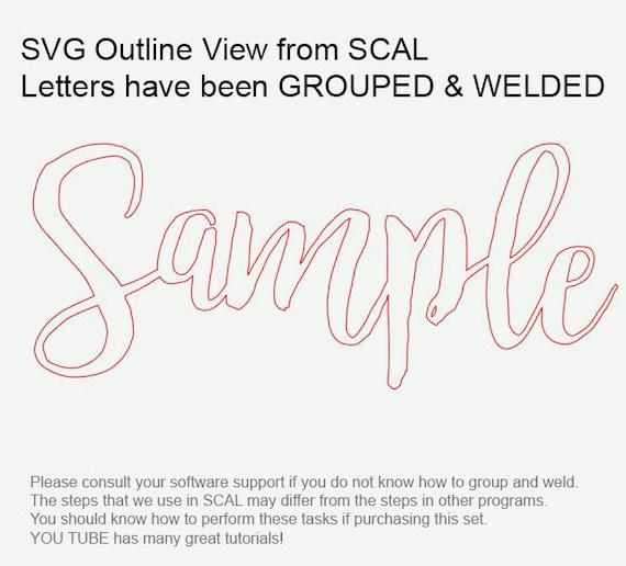 HANDWRITTEN Script SVG Monogram, Cursive Script Svg Font