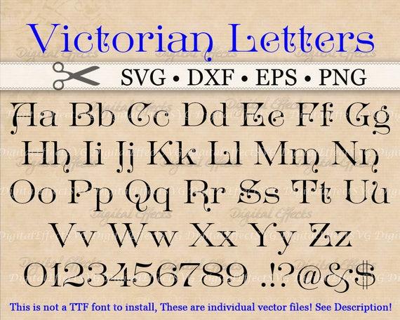 VICTORIAN Monogram Svg, Dxf, Eps, Png
