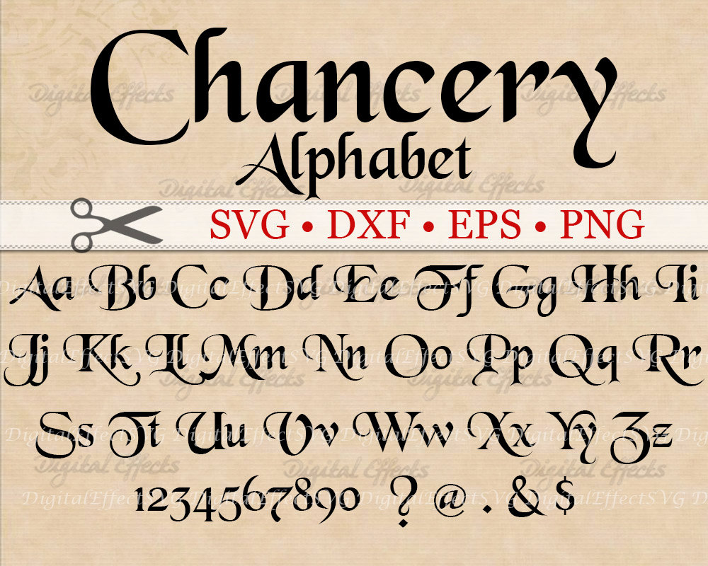chancery calligraphy monogram svg dxf eps png medieval | etsy