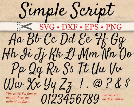 simple script svg cursive font monogram svg dxf eps png