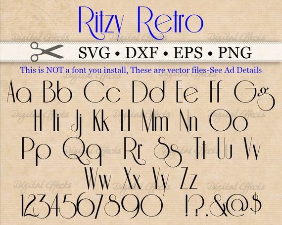 Ritzy Retro Script Monogram Svg Font Svg Dxf Eps Png Etsy