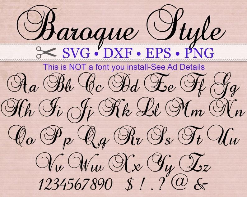 BAROQUE Style, Fancy Script Monogram Svg Font