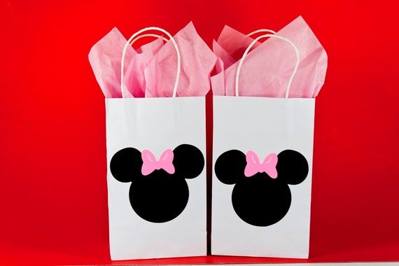 Qty 12 Minnie Mouse Party Bags Birthday