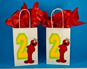 Elmo - Elmo Party Bags - Elmo Goody Bags - Elmo Treat Bags - Elmo Gift Bags - Elmo Birthday Thank You Bags - Elmo Candy Bags
