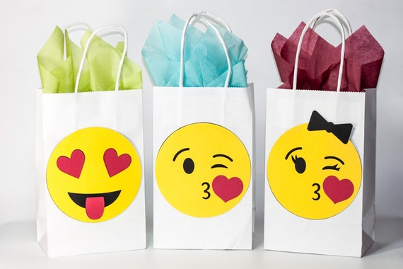 Emoji Party Birthday Bags