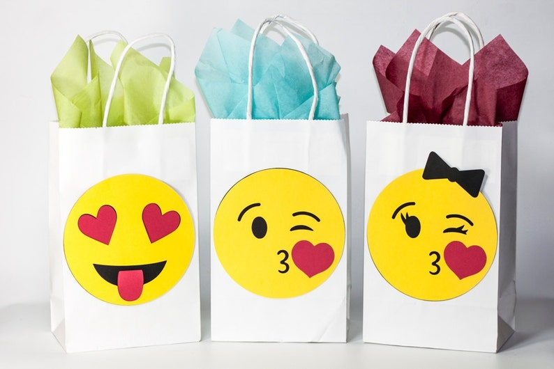 Emoji Party Birthday Bags