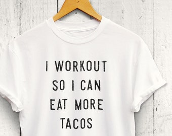 I Workout So I Can Eat More Tacos Sweater - funny taco shirt, foodie gym sweater, womens workout shirt, workout sweatshirt, mens gym sweater