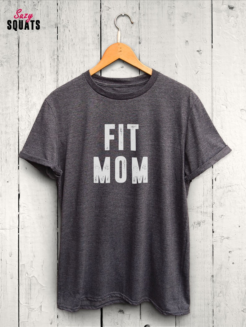 1e3df502 Fit Mom Tshirt Cute Workout Shirts for Moms Fit Mom Shirts   Etsy