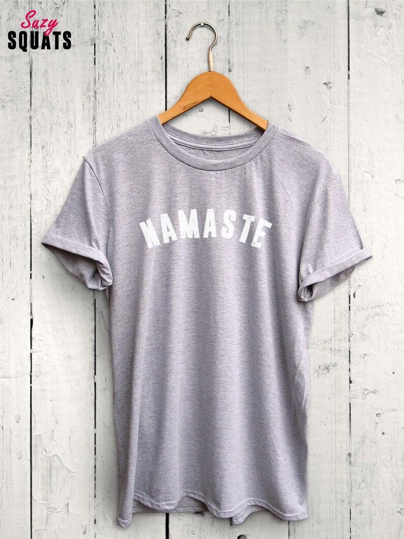 02bf338a Namaste Tshirt Yoga Tshirt Yoga Top Fun Yoga Shirt Namaste | Etsy
