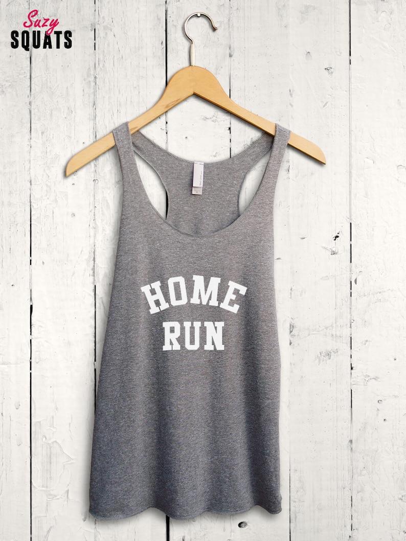 c9b9e1c2f334 Home Run Tank Top Baseball Racerback Tank Top Womens | Etsy