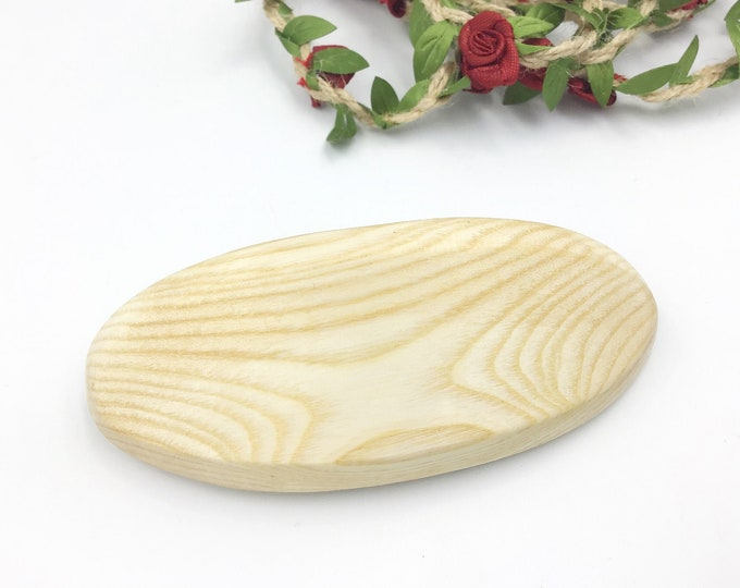 Oval Hair barrette. Sycamore wood. Wooden clip hair accessory. Genuine 'Made in France' metal clasp. High quality stylish Women's hair side.