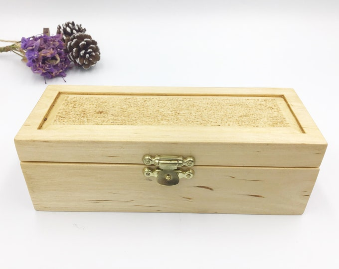 Ring box. Storage box for rings. Jewellery box. Wooden Treasure chest. Hand carved detailing on lid. Luxury ring box of Welsh Hazel wood.