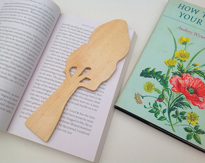 Bookmark - Tree Book Mark - Book lover gift - Natural rustic tree - Wooden bookmark from sustainable wood - Bookworm gift - Free UK postage