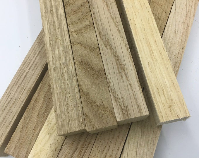 Oak wood blanks. 16cm /20cm or 27cm long. Approx 2cm x 2cm. Live edge wood turning blanks. Pen blanks. Wood craft art projects. Kiln dried
