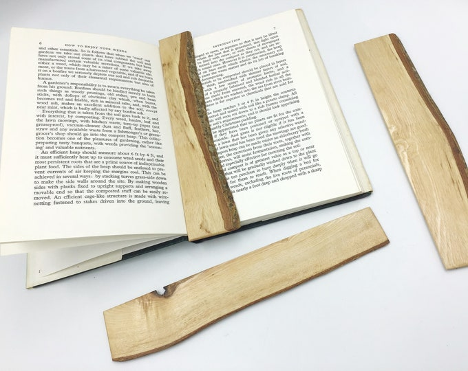 Bookmark - Natural wooden Book Mark - Sustainable Sycamore wood - Unique Book lover gift made in UK - Christmas book worm stocking filler