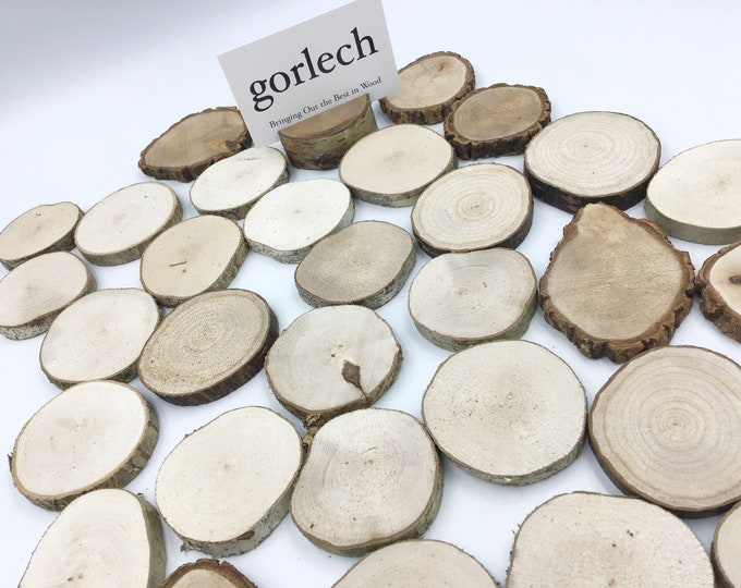 "Set of 25 5-6cm wood discs / circles / rounds. 2"" Necklace pendant decoration wood blanks- wood burning Pyrography- Christmas decorations"