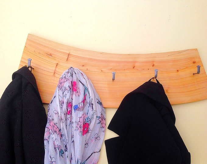 Coat rack - Wall mounted - Soft wood - Modern Rustic home decor - Modern wooden coat pegs - New home / Housewarming / First Home gift idea