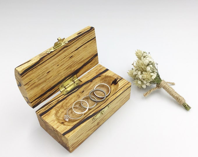 Jewellery box. Wooden jewellery box. Treasure chest. Ring / Earring / Charm box. Heirloom Gift box with high quality finish. Unusual wood