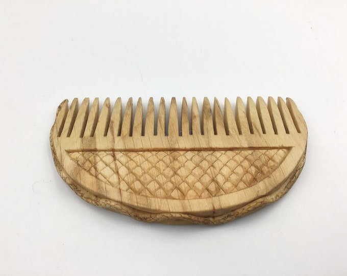 Beard comb. Snake design. Hand carved beech wood. Gift for that man in your life with a beard. Snake beard comb.