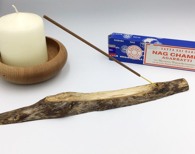 Joss stick incense holder. Incense burner. Incense stick holder. Sea Driftwood. Natural wood branch . Rustic boho style / new age room decor