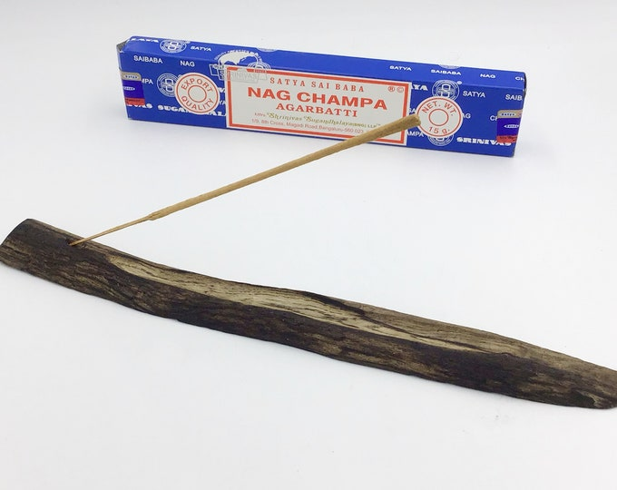 Driftwood joss stick incense holder. Sea Driftwood. Incense burner. Incense stick holder. Natural wood branch. Modern Rustic. Meditation aid