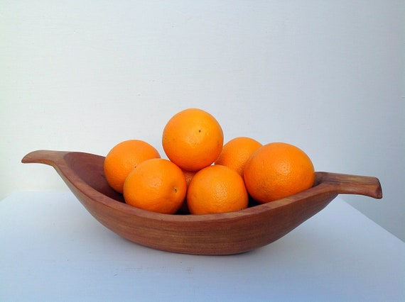 Cherry wood bowl. Hand-carved. Decorative solid wooden display bowl. Fruit bowl. Pot pourri bowl. Wedding or special gift. Unique home decor