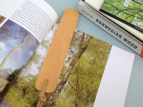 Bookmark - Sycamore Wood Book Mark - Book lover gift - Natural rustic - Wooden bookmark. Sustainable wood - Bookworm gift - Free UK postage