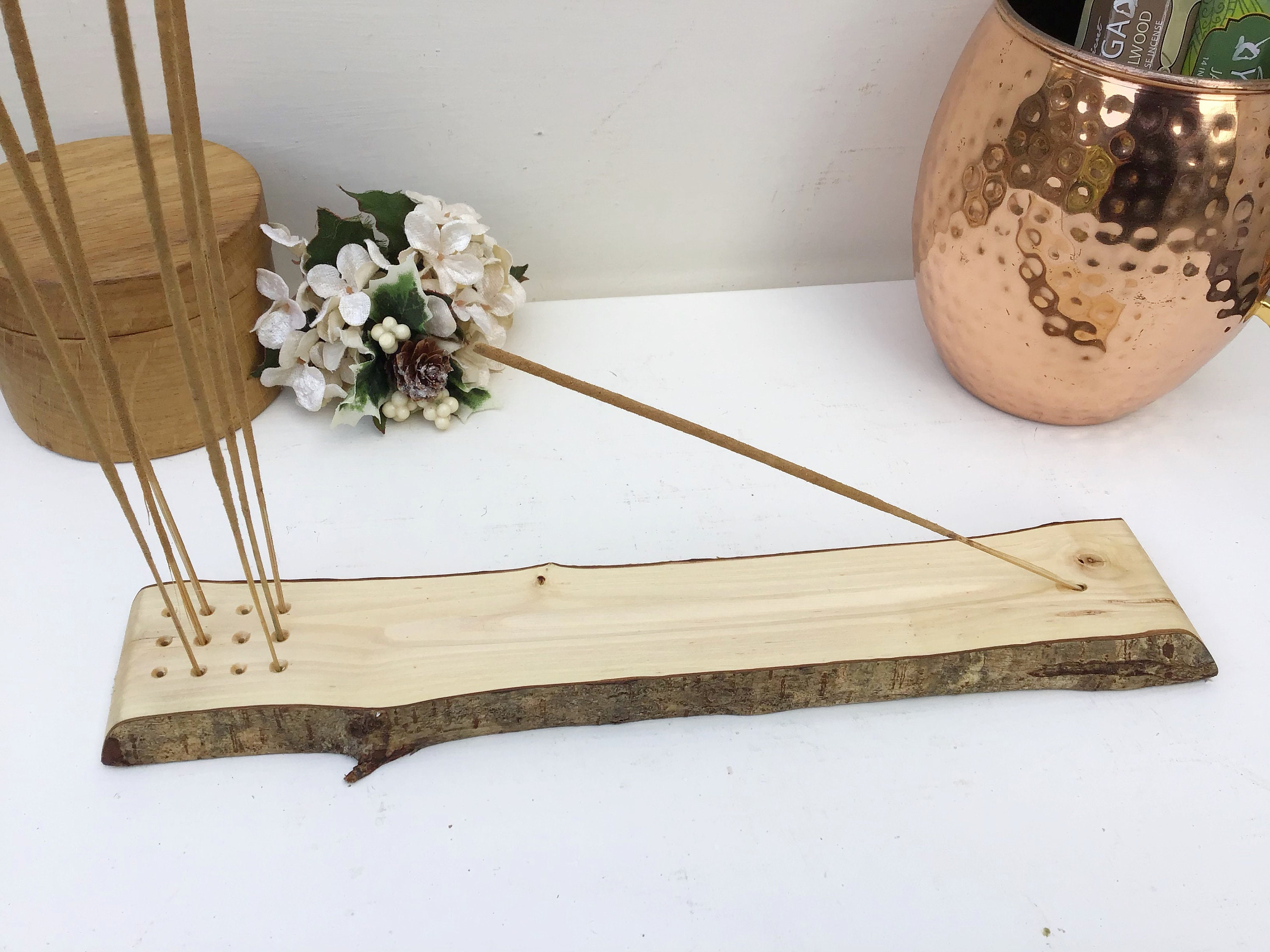 Wooden Incense Joss Stick Cone Holder Carved Wood Home Health Accessories 8C