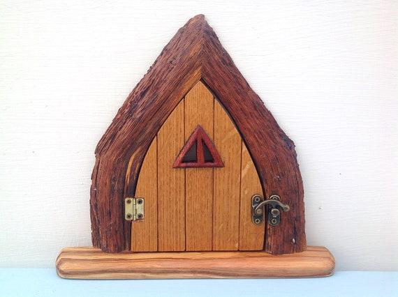 Fairy door. Fairie door. Handmade wooden fairy / elf / gnome / hobbit door. Magical home. Nursery or Child's bedroom woodland mystical decor