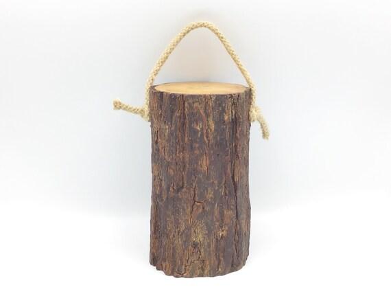 Log door stop - Solid wooden log door stop - Natural wood doorstop - Wooden door stop - Simple living - Rustic living - Sustainable product