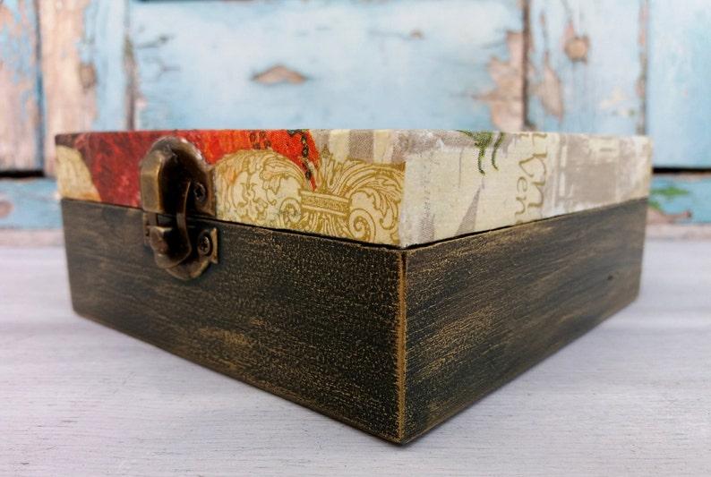 Carnival Box,Carnival Wooden Box,Carnival Jewelry Box,Masquerade Box,Vintage Carnival,Vintage Jewelry Box,Green Wood Box,Wooden Jewelry Box