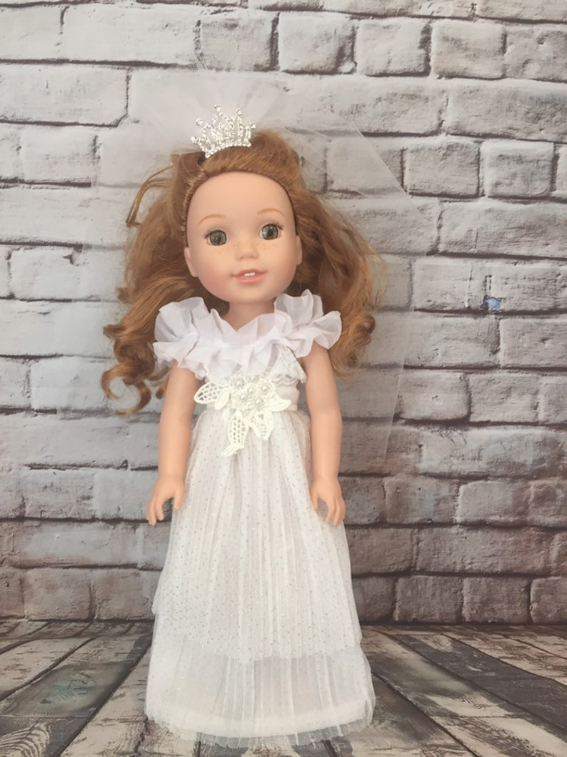 """Princess Queen Dress Gown For 14.5/"""" Wellie Wishers Doll Clothes"""